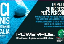 With Powerade win the Tennis of the International BNL of Italy-Rome, 8-15 May 2016.