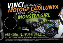 With Monster win the Grand Prix of Catalunya and take a photo with the Monster girls!