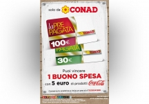 With Conad and Coca-Cola win a shopping voucher of the value of € 30 or € 100!