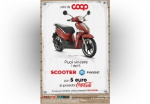 With Coop and Coca-Cola you win a Piaggio Liberty 125 S scooter!