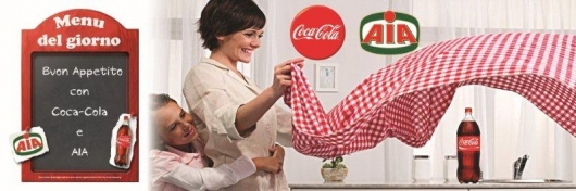 Coca-Cola ad AIA for a quality co-marketing!