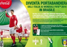 Lead the Italian flag on the football pitch during 2014 Brazil World Cup with LIDL and Coca-Cola.